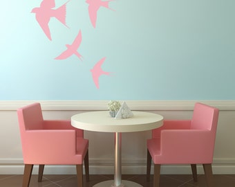 Flock of Four Swallows Wall Decal