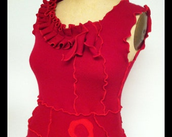 Red Cashmere Garden(s) Dress