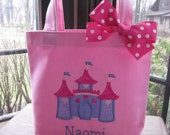 TOTE BAG Disney Princess Castle Personalized Toddler or Big Kid Tote