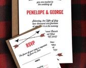 Arrows- wedding invitation and rsvp set-SAMPLE