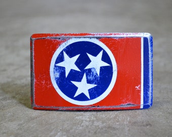 Tenessee State Flag Belt Buckle by FosterWeld