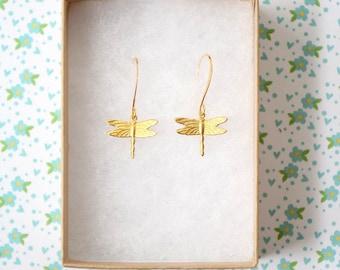 Little Dragonfly Dangle Earrings