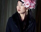 Hat - Haute Couture Headpiece Fascinator Flower