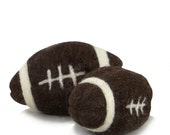 """Large Football Catnip Toy, handmade, felted, Custom Colors, 2.5"""" x 4"""",cat toy, doll toy, Fall, Sports, Super Bowl inspired"""