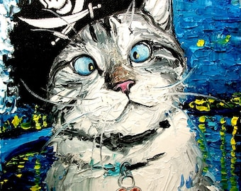 Spangles Conquers Night Rhone - print of original oil painting 16x20 inches