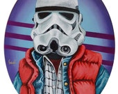 Marty McFly Stormtrooper Back to the Future Mashup Digital Print from original Artwork