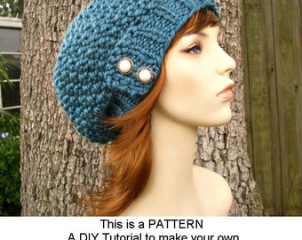Instant Download Knitting Pattern - Womens Hat Pattern Knit Hat Knitting Pattern - Knit Hat Pattern Seed Beret Pattern - Womens