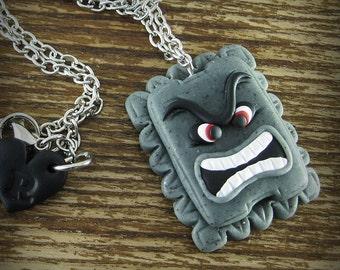 Thwomp Nintendo Necklace