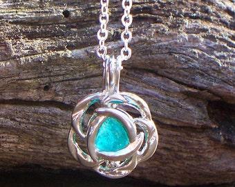 Recycled Vintage Mason Jar Flower Necklace