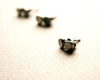 Sterling Silver Post Earrings, Recycled Silver Jewelry, Small Post Earrings,Tiny Post Earrings,Sterling Silver Stud Earrings, Rustic