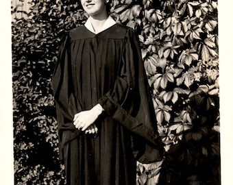 vintage photo PRetty Young Lady Graduating
