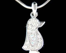 Swarovski Crystal Baby Emperor Penguin Antarctica Pendant Charm Necklace Cute New Best Friend Girls Gift