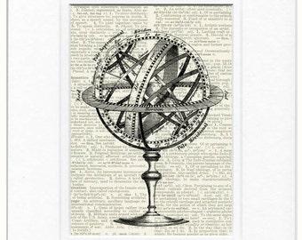 ancient celestial globe print