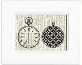1851 Crystal Palace pocket watch print