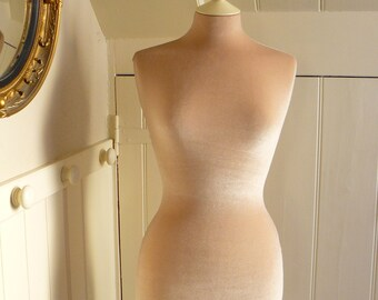 Wedding Dress Display Mannequin Velvet PLASTER BEIGE Clothes Shop Display