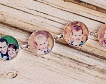 Custom photo bracelet showcasing 4 of your photos