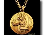 DOBERMAN LOCKET NECKLACE. Jewelry Gift for Dobermann Pinscher Lovers. Vintage Style Dog Jewelry Pendant