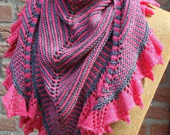 PDF knitting pattern scarf, shawl, wrap, neckwarmer: Live
