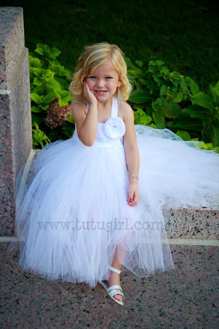 White Tutu Flower Girl Dress Ivory Tutu Dress Toddler by ...