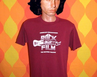 80s vintage t-shirt ROCK on FILM wiltern theatre los angeles california tee shirt Medium movie music