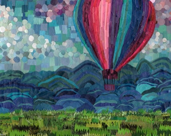 hot air balloon. (8x10 print)