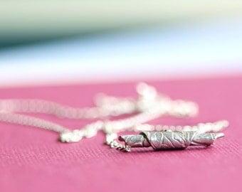 silver necklace, fine silver bead, sterling silver, aida