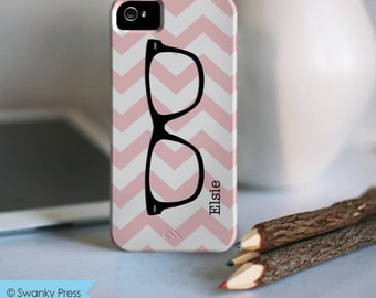 iPhone 7 Personalized Case  - Chevron with eyeglasses  - other models available