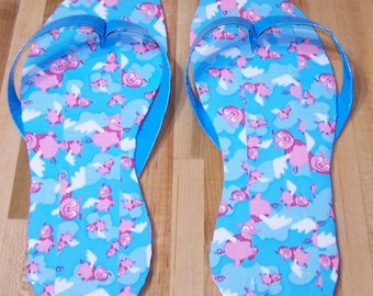 Fun Flip-Flops made with flying piggy duct tape