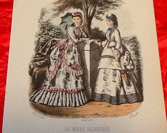 Vintage New Old Stock LA MODE ILLUSTREE Unframed Fashion Print 8 x 10