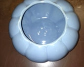 Vintage Pottery Planter, baby blue retro Flower Pot, Shabby Chic, Like McCoy