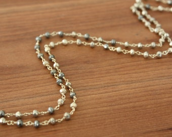 GORGEOUS Pyrite Necklace- Gold Filled- Choice of Length