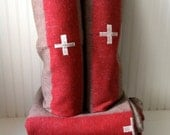 Pair of authentic Swiss Army wool blankets