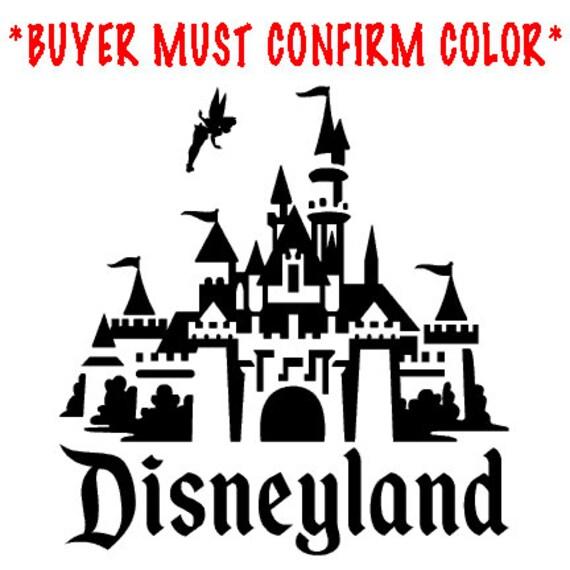 Disneyland Castle Vinyl Decal Sticker New
