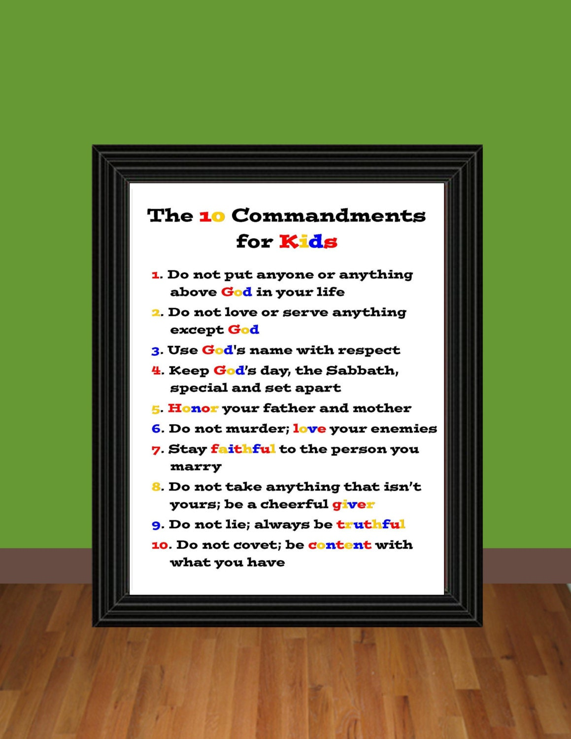 The Ten Commandments for Kids Exodus 20 by DesigningLife on Etsy