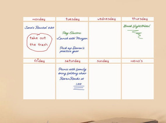 Weekly Calendar Board Weekly Calendar Daily Form – Weekly Memo Calendar