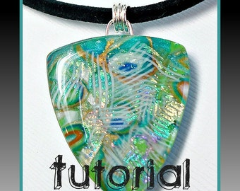 polymer clay Tutorial- Faux Dichroic Tutorial- Pendant Tutorial- Jewelry Tutorials