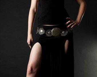 The Warrior Maiden Long Slit Skirt