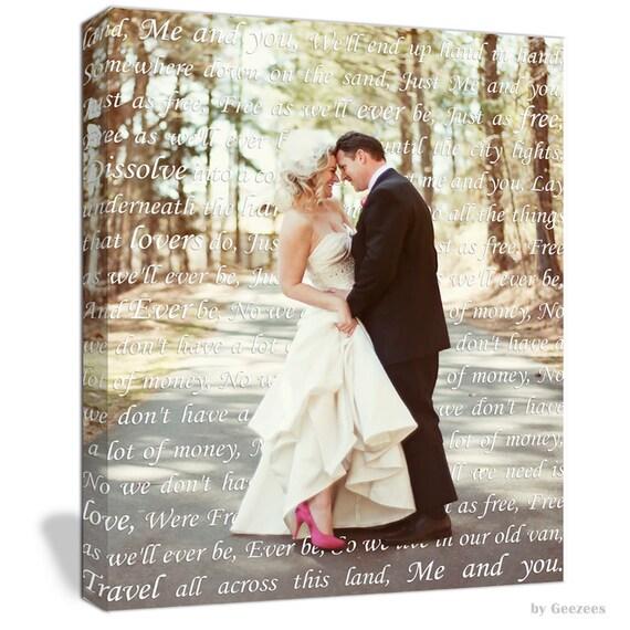 Personalized Wedding Vow Gift, Wedding Vows Canvas, Wedding Vows Anniversary