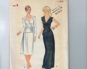 1980s Vintage Sewing Pattern Butterick 4186 Misses Peplum Dress Richard Warren Size 8 Bust 31 1/2 80s UNCUT  99