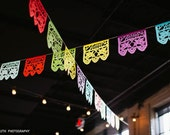 Wedding decorations, Papel Picado AMOR Banners, Custom Color