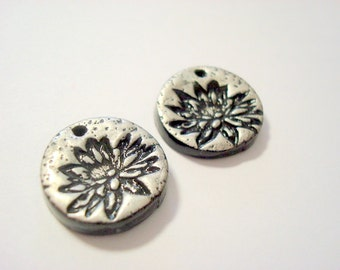 Lotus Handmade Polymer Clay Focal Beads