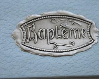 Vintage Bapteme Box, Vintage Baptism Box, Baptism Gift Box
