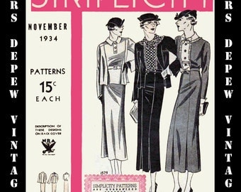 Vintage Pattern Catalog 2 Booklets Simplicity March 1935 and November 1934 PDF Copy -INSTANT DOWNLOAD-