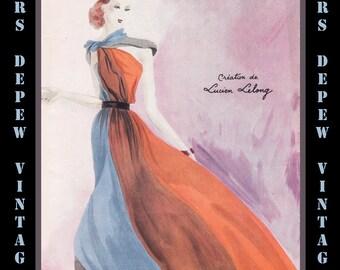 Vintage French Fashion Magazine Modes et Travaux April 1937 E-book Digital Copy -Instant Download-