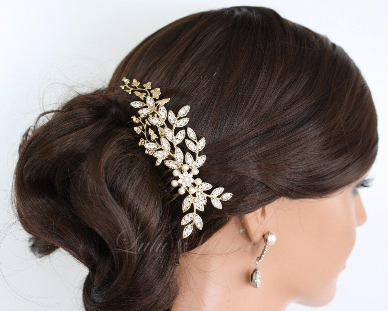 Rose gold wedding hair accessories -  Wedding Hair Accessories Crystal Headpiece Neve Zoom