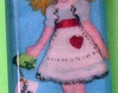 Alice In Wonderland  glass Pendant