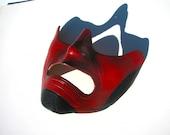 Red Samurai Half Mask
