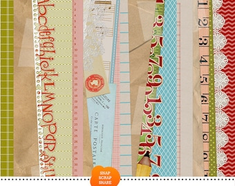 stacked background papers - digital scrapbooking - automatic download