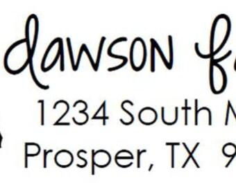 Custom Address Stamp - Style: Texas State