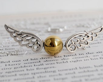 Seeker's Quest - Golden Snitch Necklace - Harry Potter Necklace